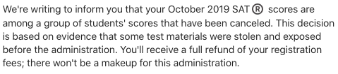 letter from College Board